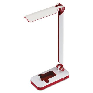 BLACKDECKER PureOptics Verve Folding LED Desk Light 2 Prong 16 inches White/Red