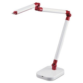 BLACK+DECKER PureOptics SummitFlex Ultra Reach LED Desk Light 2 Prong 29 1/2-inch White/Red