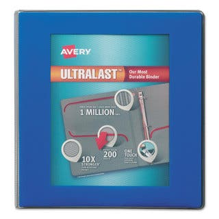 Avery UltraLast View Binder with 1-Touch Slant Rings 11 x 8 1/2 1 1/2-inch Capacity Blue|https://ak1.ostkcdn.com/images/products/13867126/P20507318.jpg?impolicy=medium