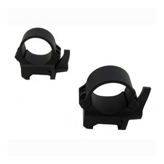 Leupold Weaver-style Matte Black 1-inch Quick-release Medium Mount Rings