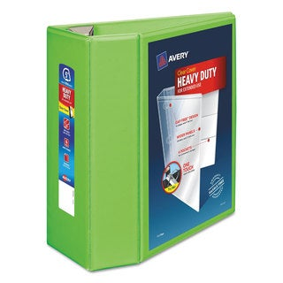 Avery Heavy-Duty View Binder with Locking EZD Rings 5 inches Capacity Chartreuse