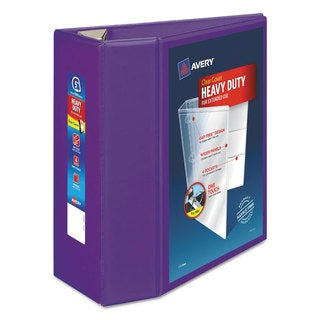 Avery Heavy-Duty View Binder with Locking EZD Rings 5-inch Capacity Purple