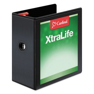 Cardina-inch long xtraLife ClearVue Non-Stick Locking Slant-D Binder 5-inch Capacity 11 x 8 1/2 Black
