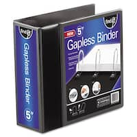 find It Gapless Loop Ring View Binder 11 x 8-1/2 5 inches Capacity Black