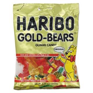 Haribo Gummi Candy Gummi Bears Original Assortment 5-ounce Bag 12/Carton