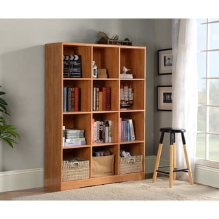 American Furniture Classics Brown 12-Cube Storage Bookcase