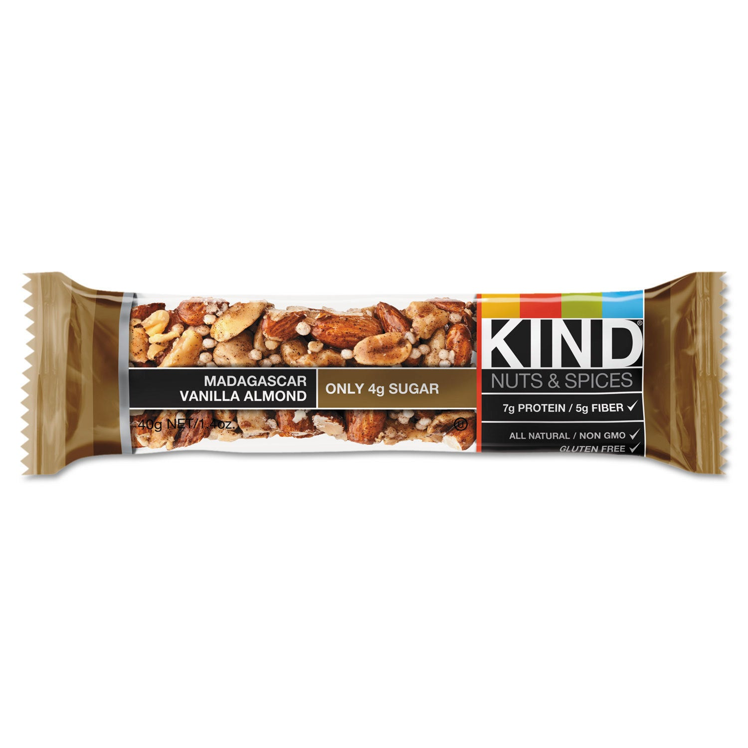 KIND Nuts and Spices Bar Madagascar Vanilla (White) Almon...