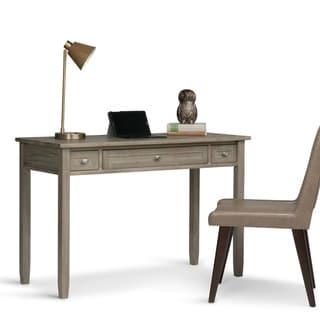 WYNDENHALL Norfolk Solid Wood Rustic 48 inch Wide Writing Office Desk