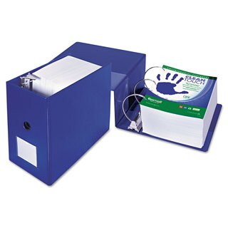 Samsill Clean Touch Locking D-Ring Reference Binder Antimicrobial 6 inches Capacity Blue