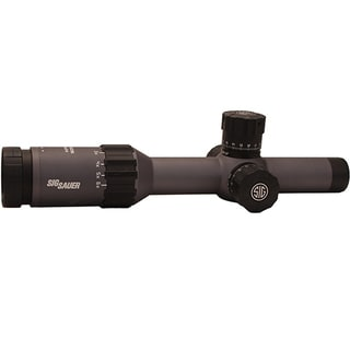 Sig Sauer Tango6 FFP 1-6 x 24mm MRAD Milling Reticle. 0.2 MRAD Adjustment Graphite Tactical Riflescope