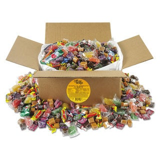 Office Snax Soft & Chewy Candy Mix, Individually Wrapped, 10 lb Values Size Box