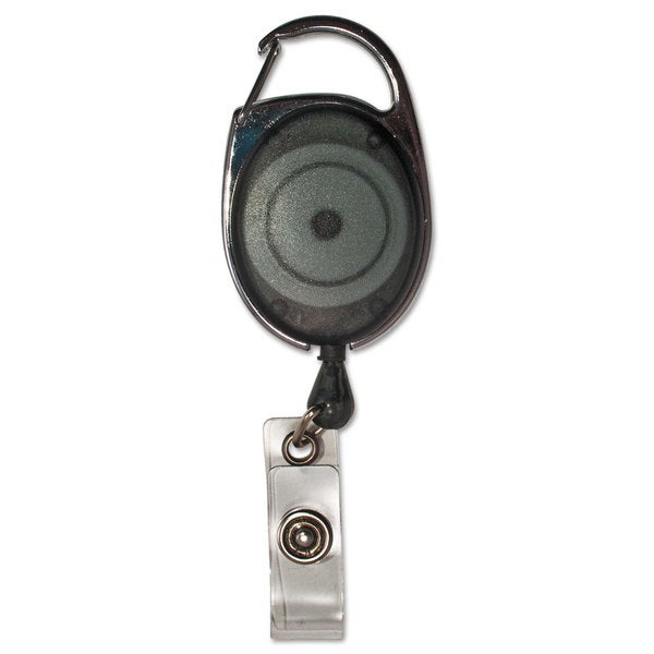 Advantus Carabiner-Style Retractable ID Card Reel 30-inch Extension Smoke 12/Pack. Opens flyout.