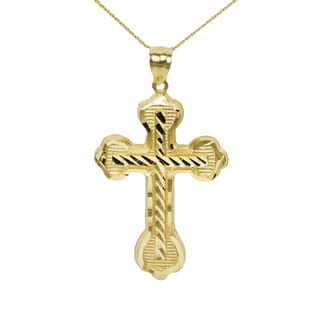 10k Yellow Gold Nugget Cross Pendant