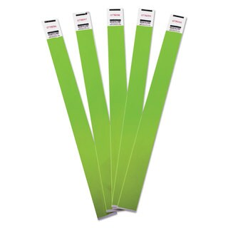 Advantus Crowd Management Wristbands Sequentially Numbered 10 x 3/4 Green 500/Pack