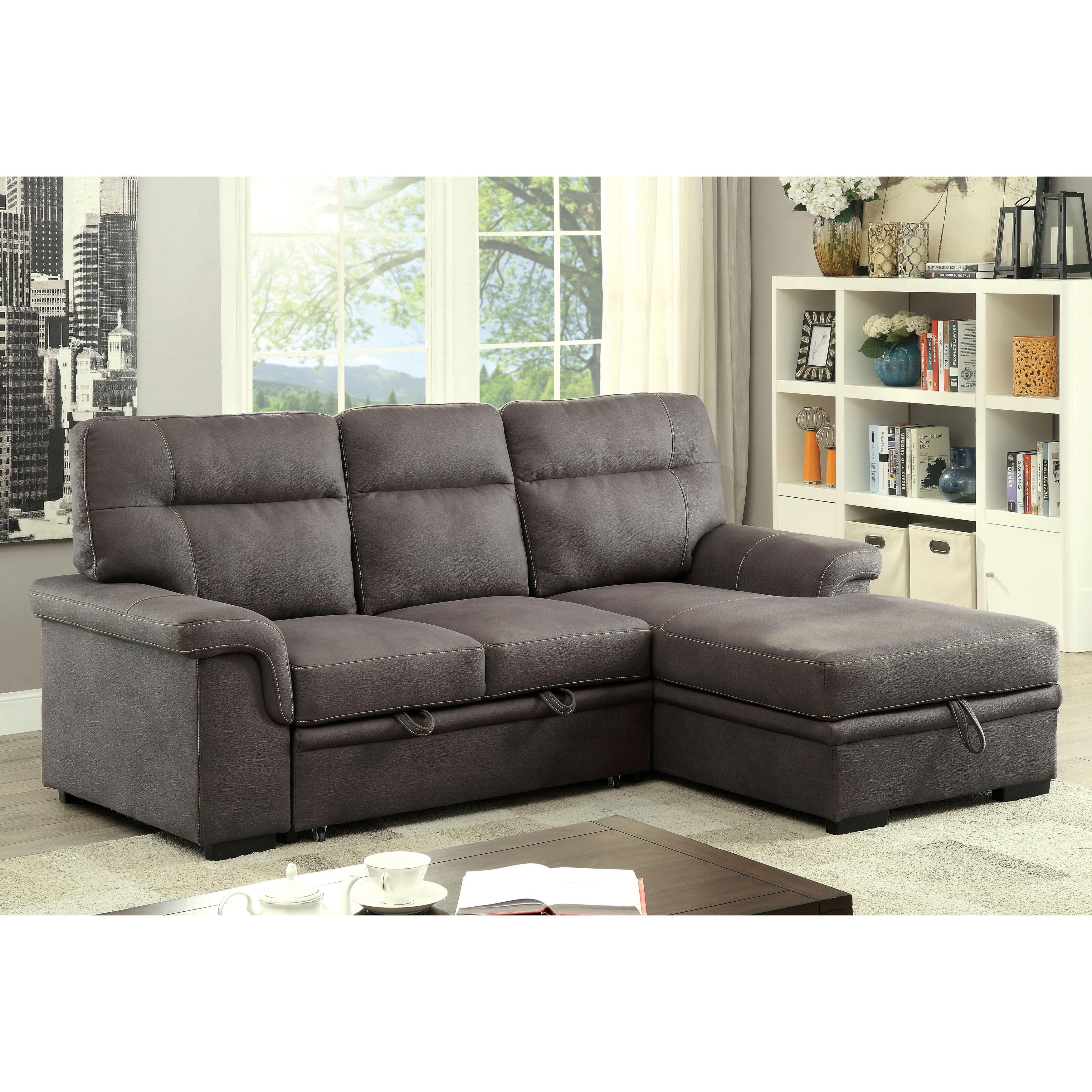 Furniture of America Samera Transitional Graphite Convert...