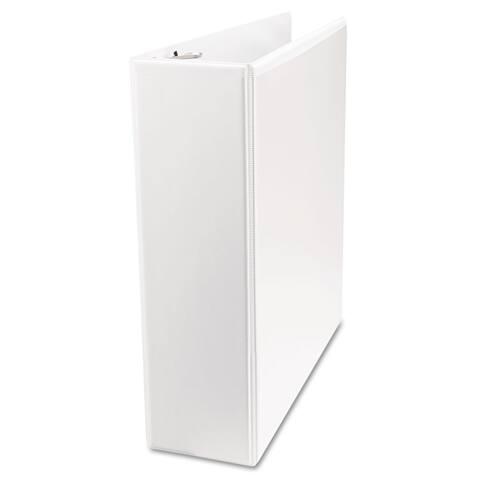 Universal Economy Round Ring View Binder 3-inch Capacity White 6/Pack