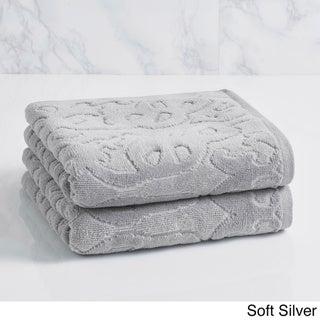 LOFT by Loftex Trellis Sculpted Jacquard Hand Towel (set of 2)
