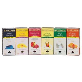 Bigelow Assorted Tea Packs Six Flavors 28/Box 168/Carton