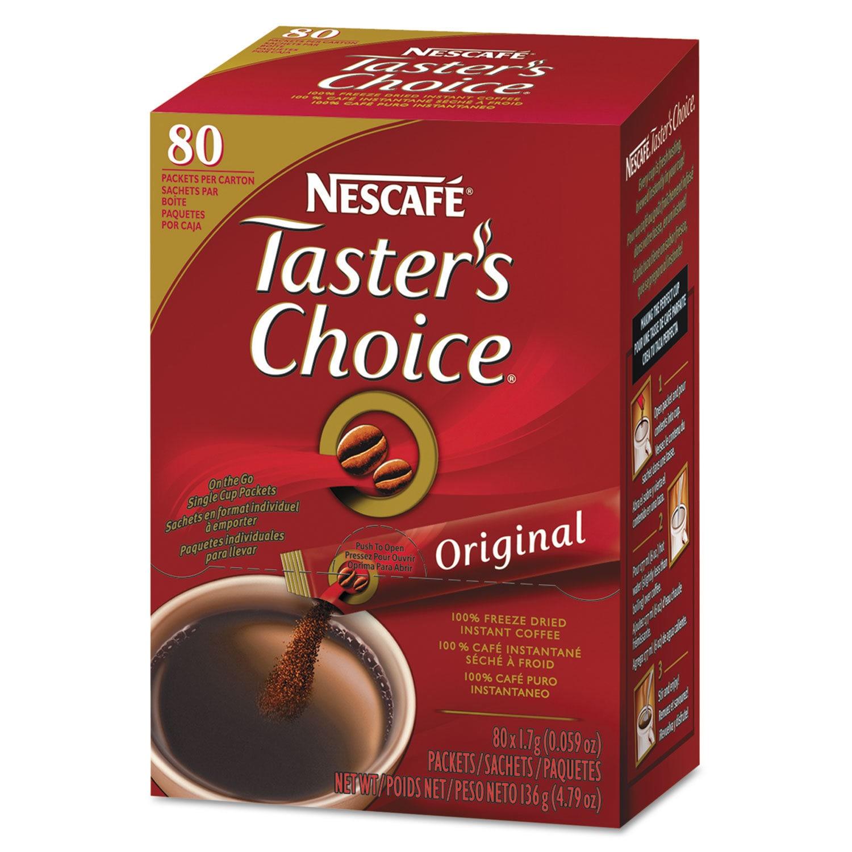 Nescafe Taster's Choice Stick Pack Premium Choice 80/Box ...