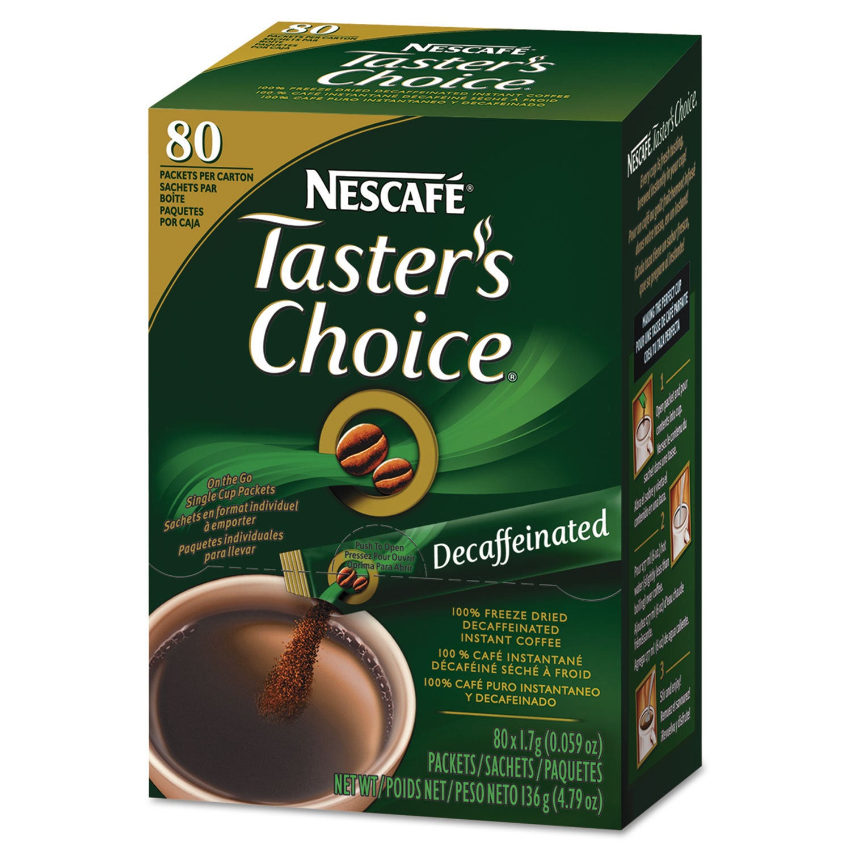Nestlé Taster's Choice Stick Pack Decaf .06oz 80/Box (Sna...