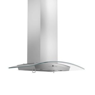 ZLINE 30-inch 760 CFM Wall Mount Stainless Steel Range Hood & Glass with Crown Molding (KZCRN-30)