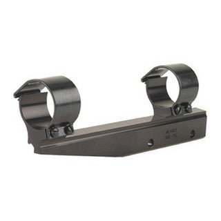 Weaver Black Aluminum 1-inch High Bracket Mount with Rings