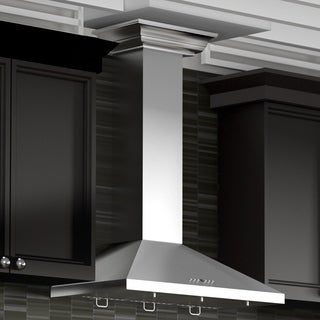 ZLINE 30-inch 760 CFM Wall Mount Range Hood in Stainless Steel with Crown Molding (KL2CRN-30)