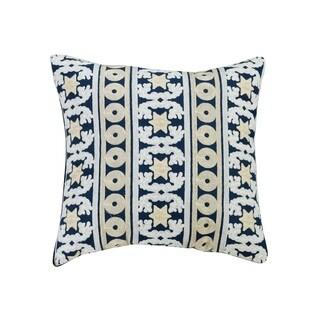 eLIGHT Taina Embroidered Cotton Throw Pillow