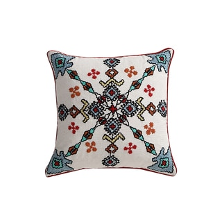 VCNY Home Azure 18-inch Cotton Decorative Square Throw Pillow
