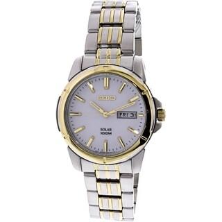 Seiko Solar SNE094P1 Men's White Dial Watch