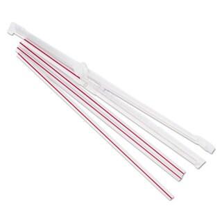 Boardwalk Jumbo Straws 7 3/4-inch Plastic Red with White Stripe 500/Pack 24 Pack/Carton