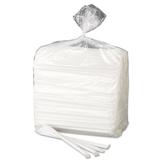 Dixie Wrapped Flex Straws 7 3/4-inch Polypropylene White 10000/Carton