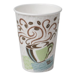 Dixie Hot Cups Paper 16oz Coffee Dreams Design 50/Pack