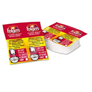 Folgers Coffee Premeasured Packs Classic Roast Regular 1.05-ounce Vacket Pack 42/Carton