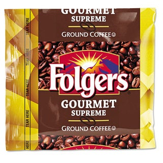 Folgers Coffee Fraction Pack Gourmet Supreme 1.75-ounce 42/Carton