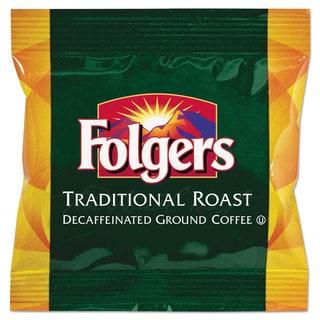 Folgers Ground Coffee Fraction Packs Classic Roast Decaf 1.5oz 42/Carton
