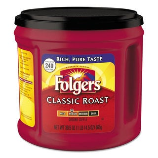 Folgers Coffee Classic Roast Ground 30.5-ounce Canister 6/Carton