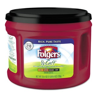 Folgers Coffee Half Caff 25.4-ounce Canister