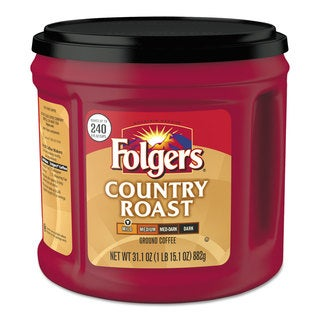 Folgers Coffee Country Roast 31.1-ounce Canister 6/Carton