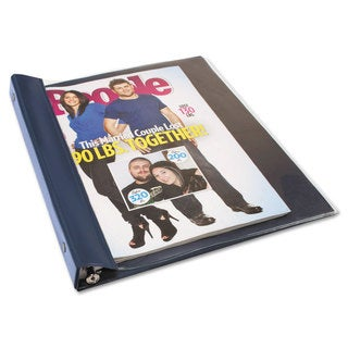 Advantus Catalog/Magazine Binder 11 x 9 1/2 Clear Front Navy Blue Back