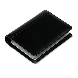 Samsill Regal Leather Business Card Binder 120 Card Capacity 2 x 3 1/2 Cards Black (Option: Black)
