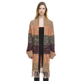 Women's Savannah Multicolored Acrylic Long-sleeve Cardigan