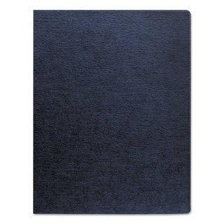 Fellowes Linen Texture Binding System Covers 11-1/4 x 8-3/4 Navy 200/Pack