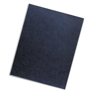 Fellowes Linen Texture Binding System Covers 11 x 8-1/2 Navy 200/Pack