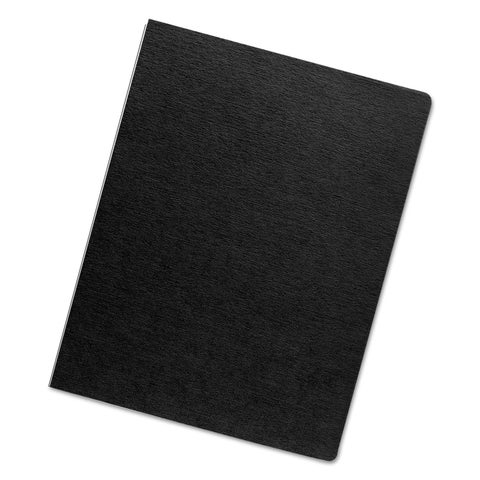 Fellowes Linen Texture Binding System Covers 11-1/4 x 8-3/4 Black 200/Pack