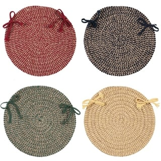 Chenille Soft Check Chair Pad (4-piece)