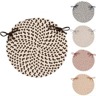 Wool-blend Multi Round Chair Pads (Set of 4)
