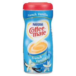 Coffee-mate Non-Dairy Powdered Creamer French Vanilla 15-ounce Canister 12/Carton