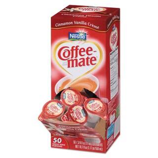 Coffee-mate Liquid Coffee Creamer Cinnamon Vanilla 0.375-ounce Mini Cups 50/Box 4 Box/Carton