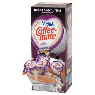 Coffee-mate Liquid Coffee Creamer Italian Sweet Creme 0.375-ounce Mini Cups, 50/Box, 4 Box/Carton